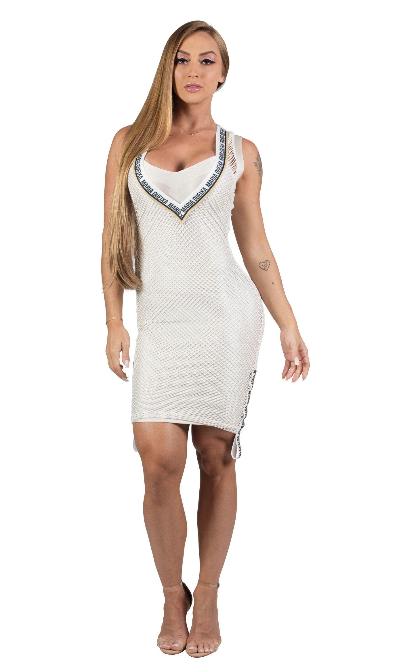 Vestido Curto Tella + Tubinho Street Maria Gueixa Off White