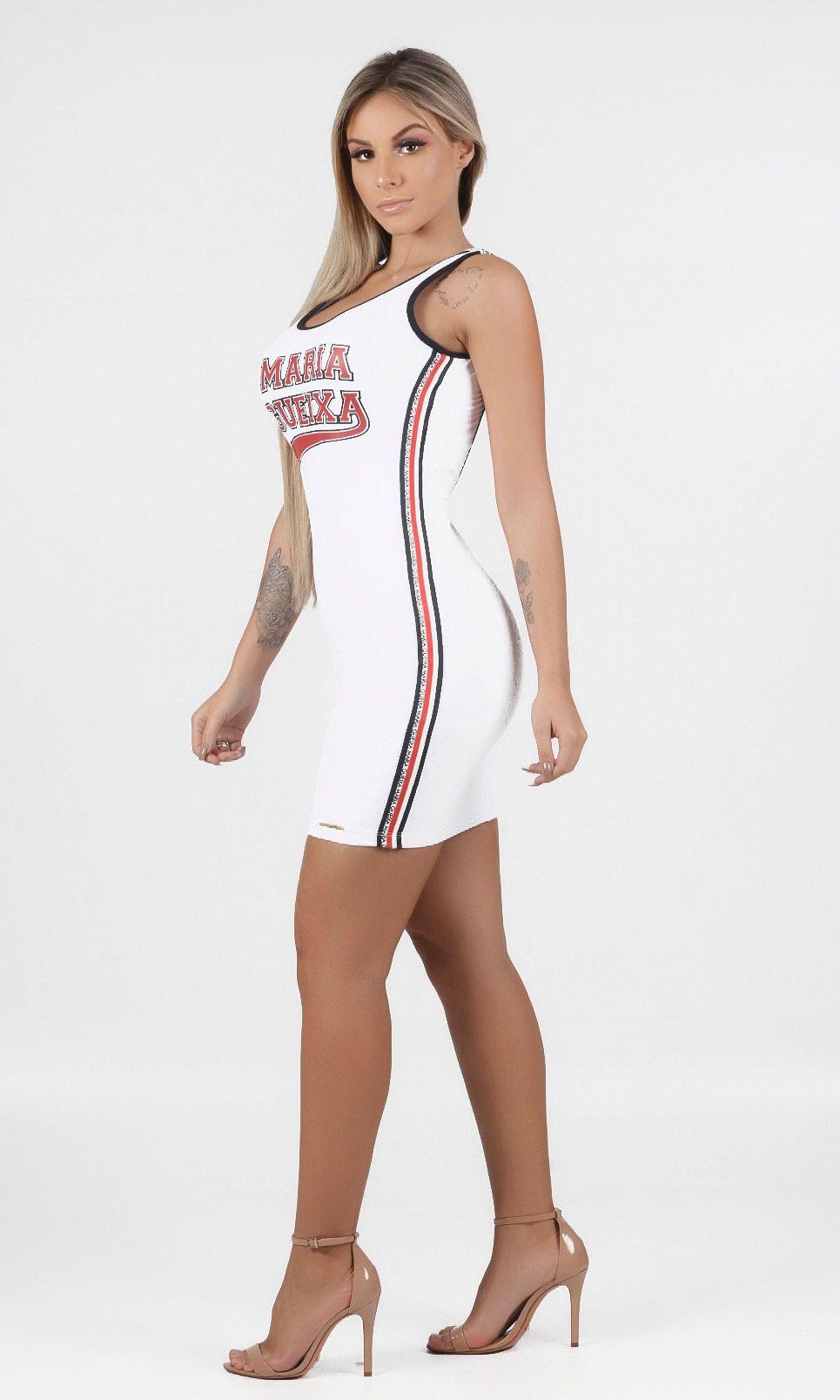 Vestido Curto New Sport Maria Gueixa Branco