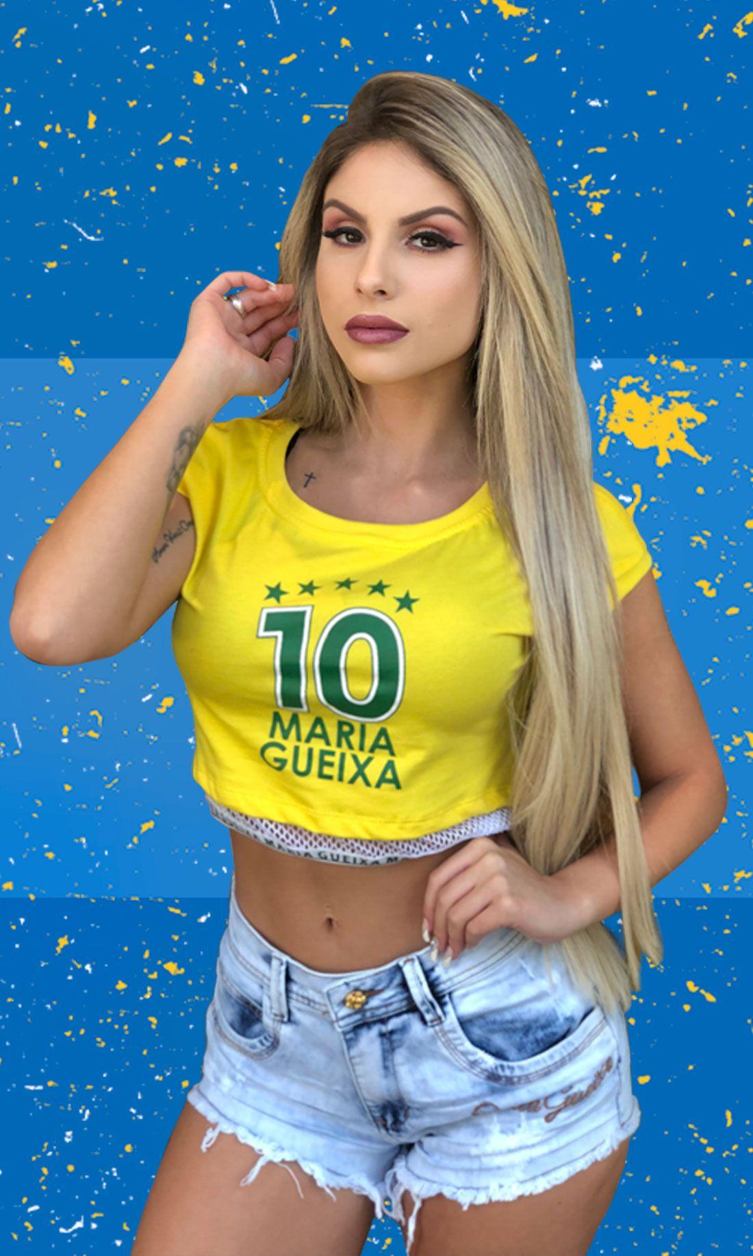 BLUSA CURTO BRASIL 10 MARIA GUEIXA AMARELO