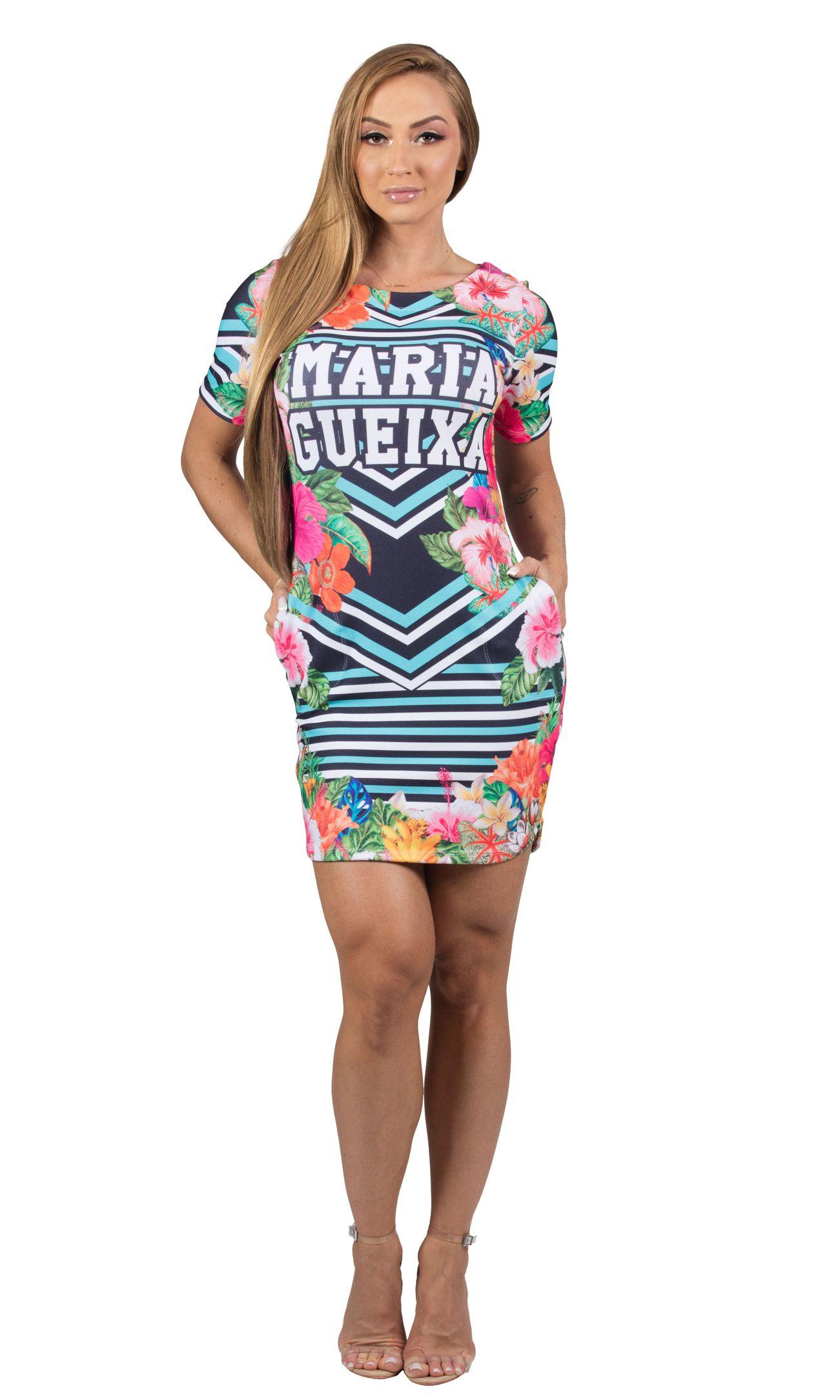 Vestido Curto Comfort Tropical Maria Gueixa Floral