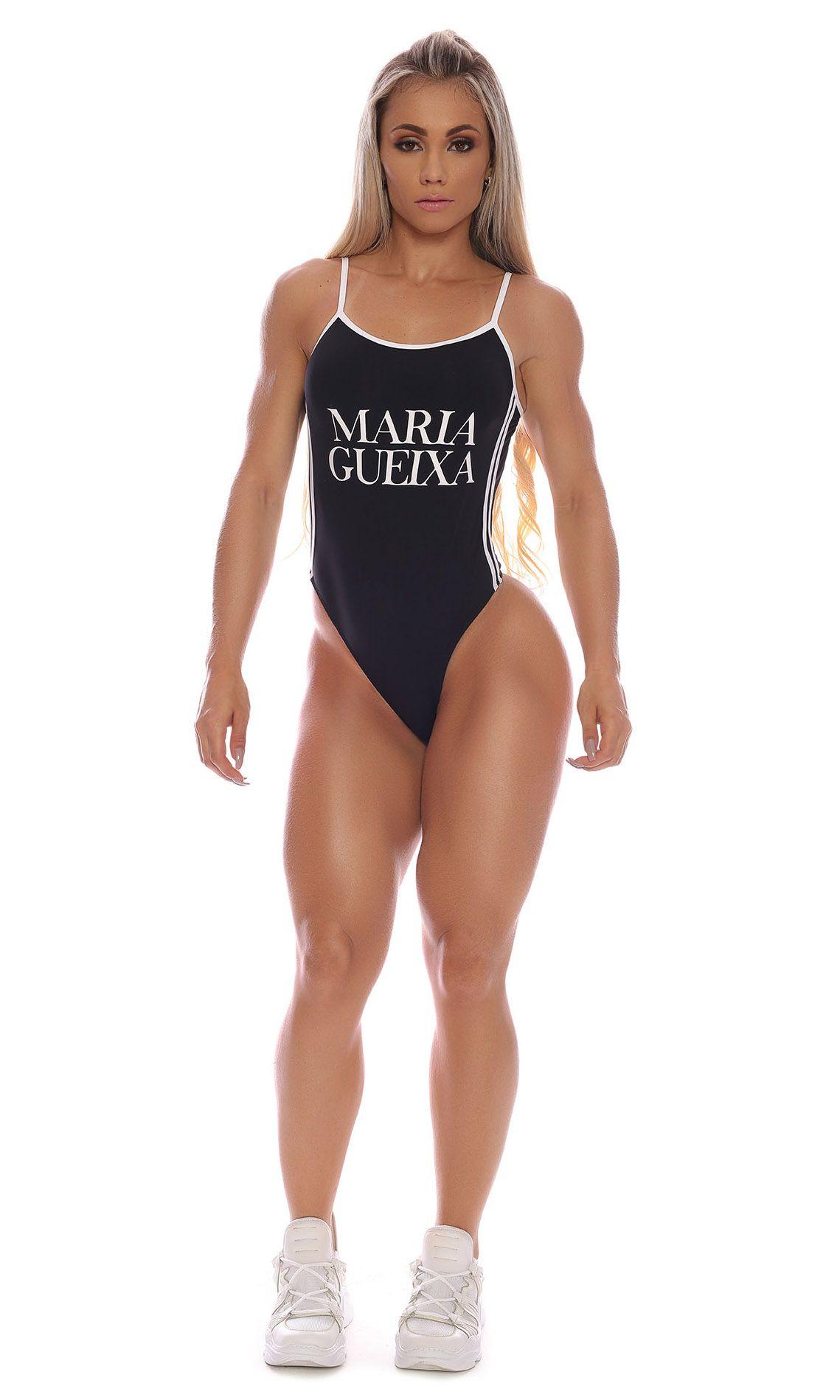 Maiô Active Maria Gueixa Preto