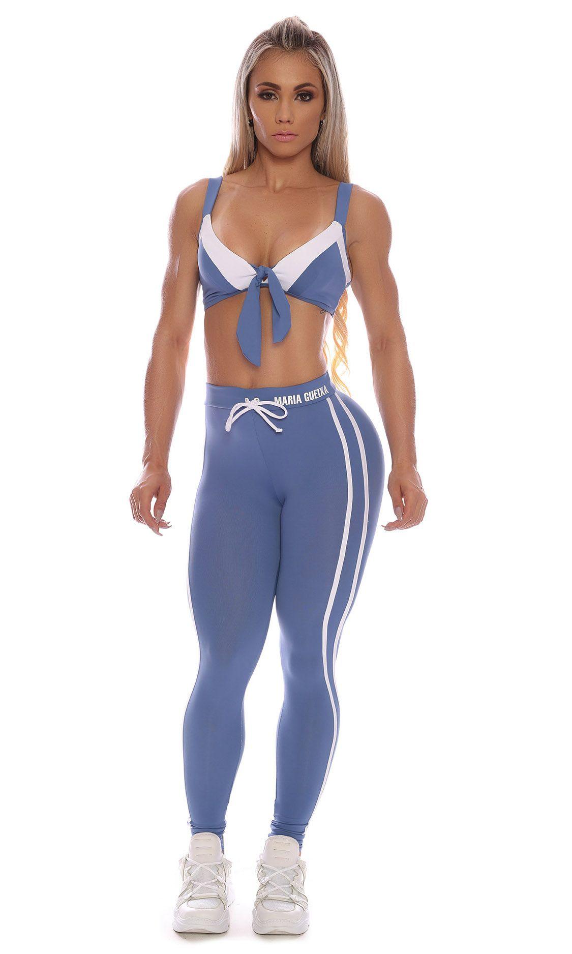 Top Fitness Ligth Blue Maria Gueixa Azul