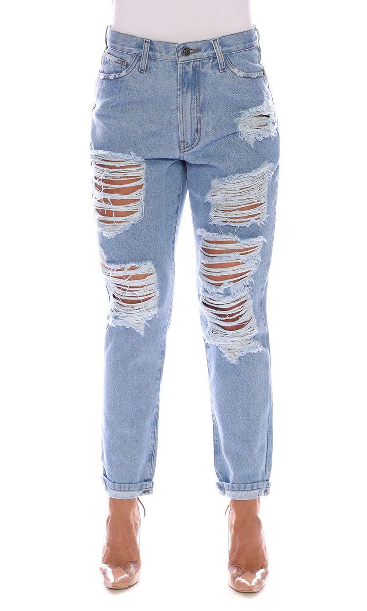 Calça Jeans Destroyed Blue Sense Maria Gueixa Jeans