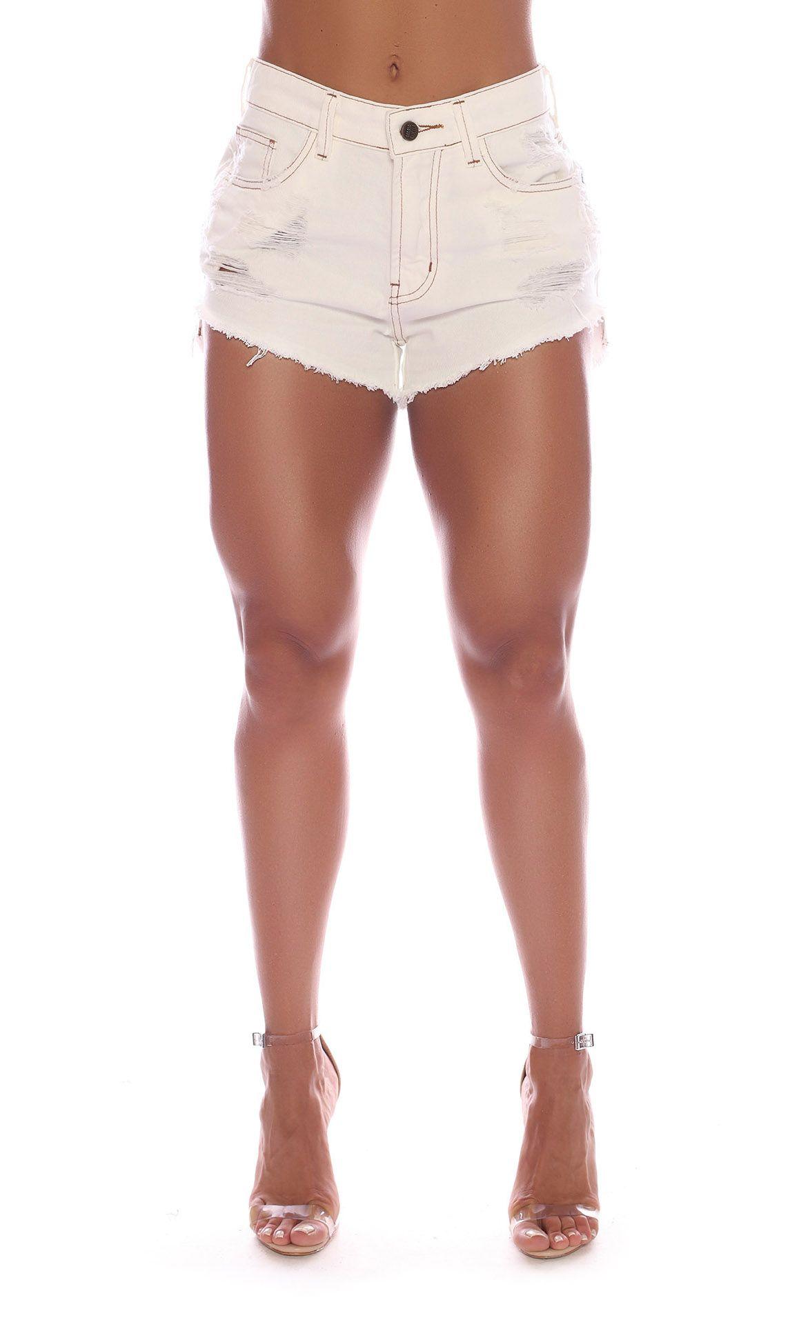 Short Jeans Off White Power Maria Gueixa Off White