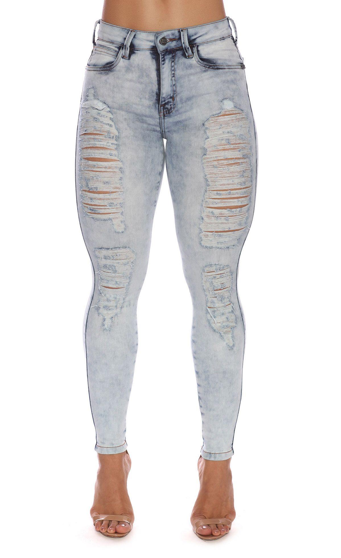 Calça Jeans Destroyed Power Maria Gueixa Jeans