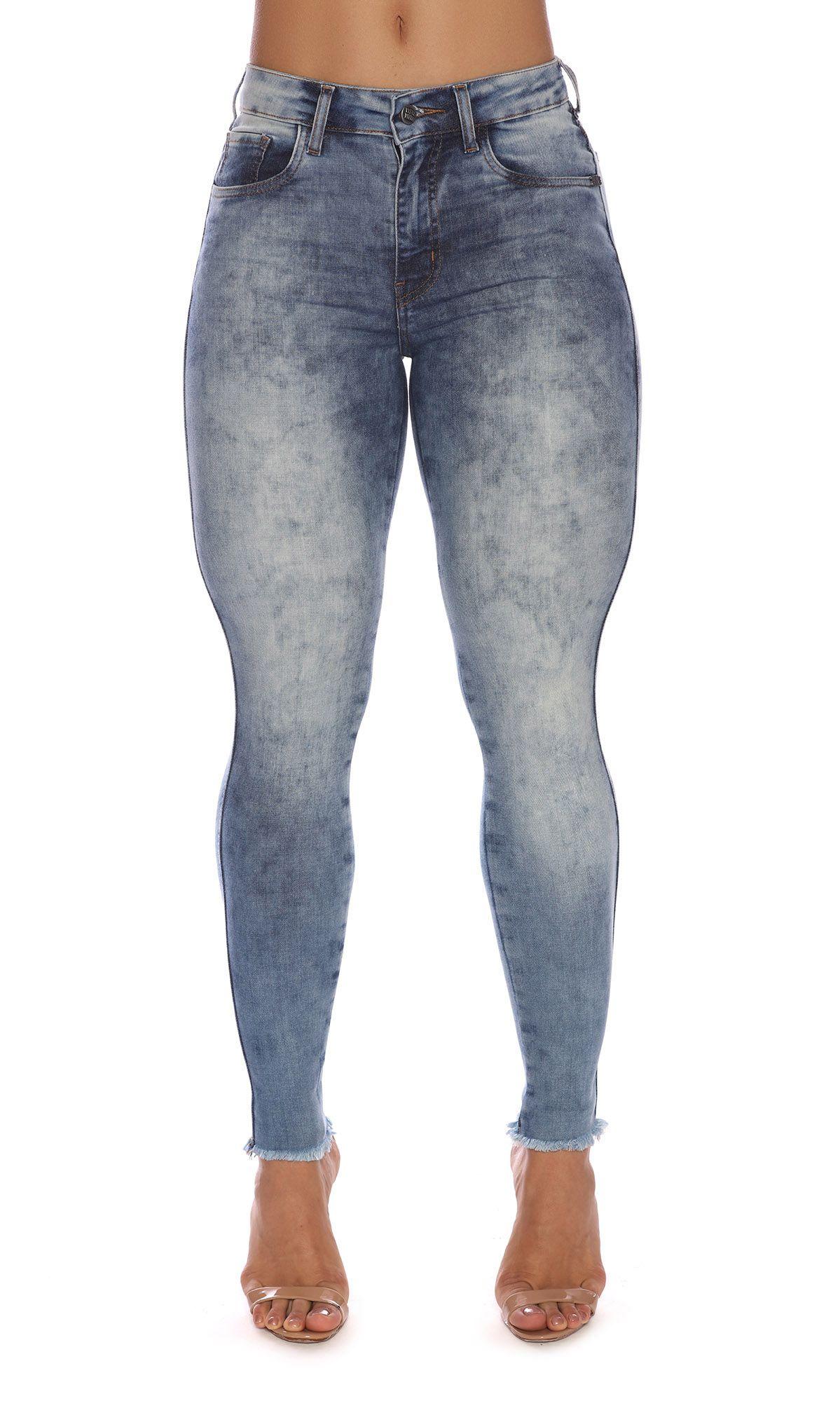 Calça Jeans Skinny Blue Sensation Maria Gueixa Jeans