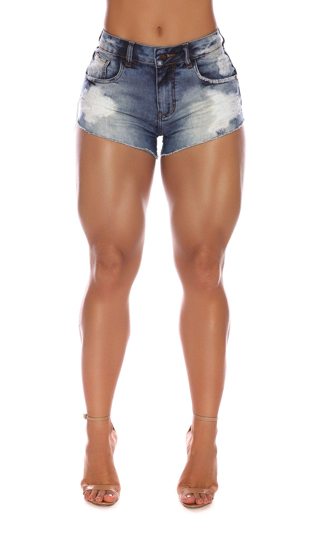 Short Jeans Destroyed Blue Maria Gueixa Jeans