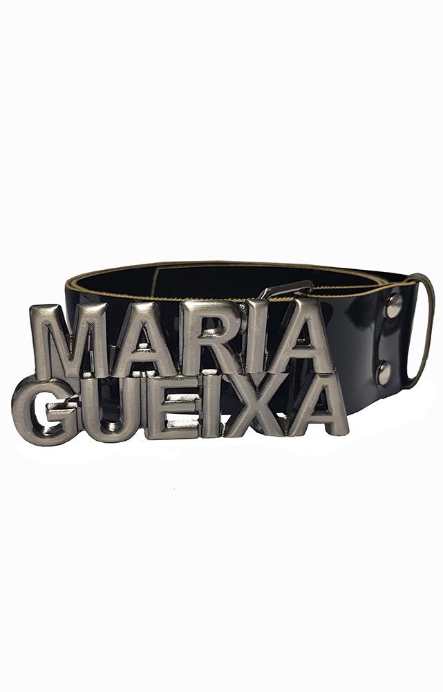 Cinto Couro Verniz Maria Gueixa Preto