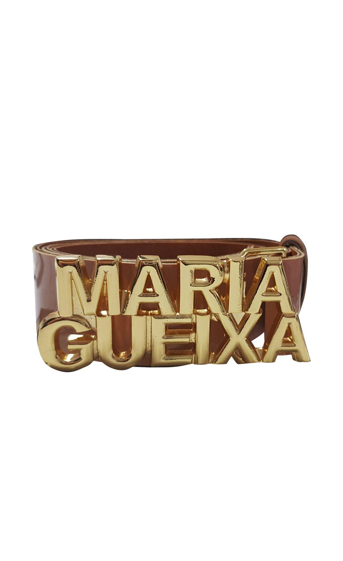 Cinto Couro Verniz Maria Gueixa Caramelo