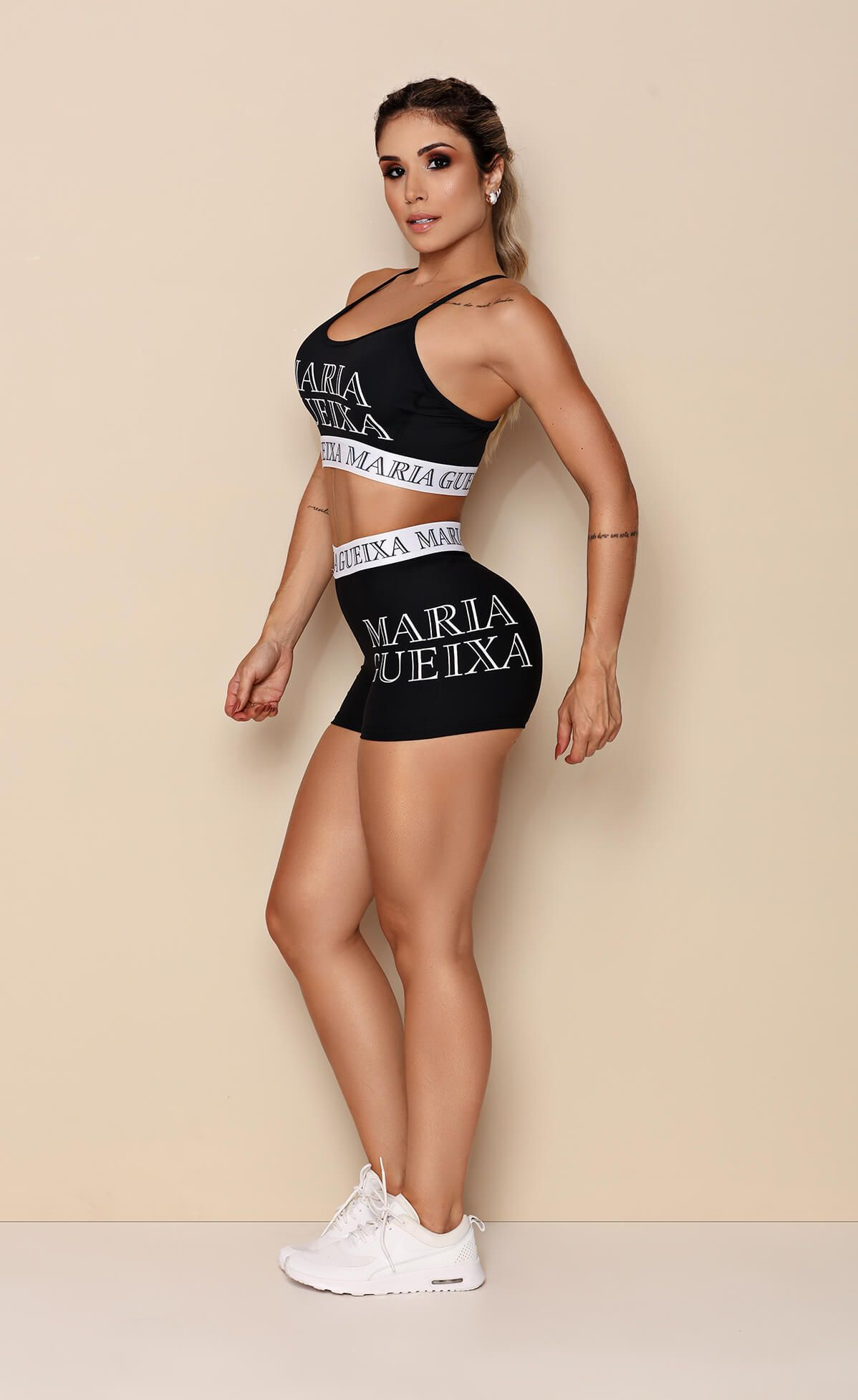 Conjunto Short + Top Start Gym Maria Gueixa Preto