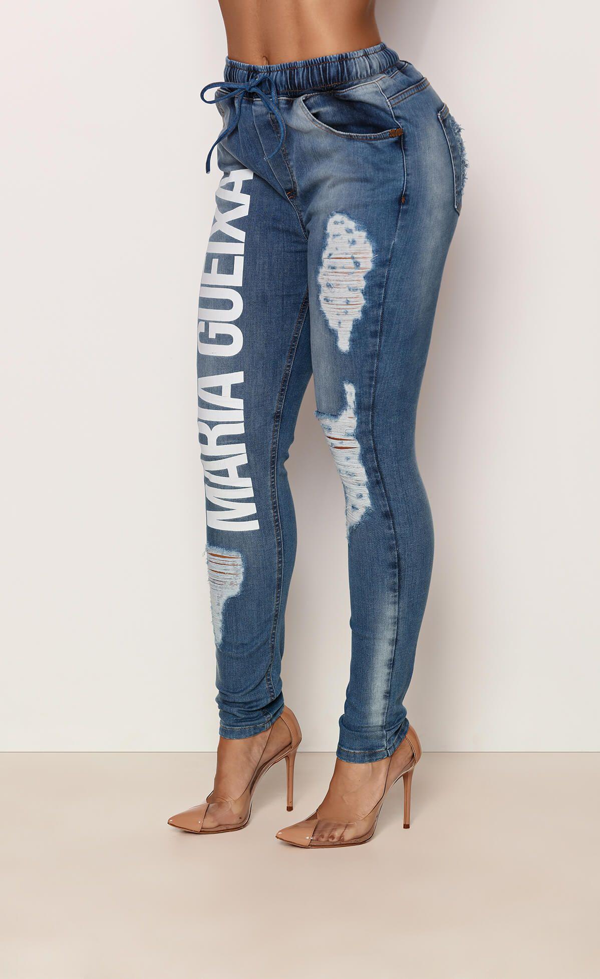 Calça Jeans Comfort Logo Maria Gueixa Jeans
