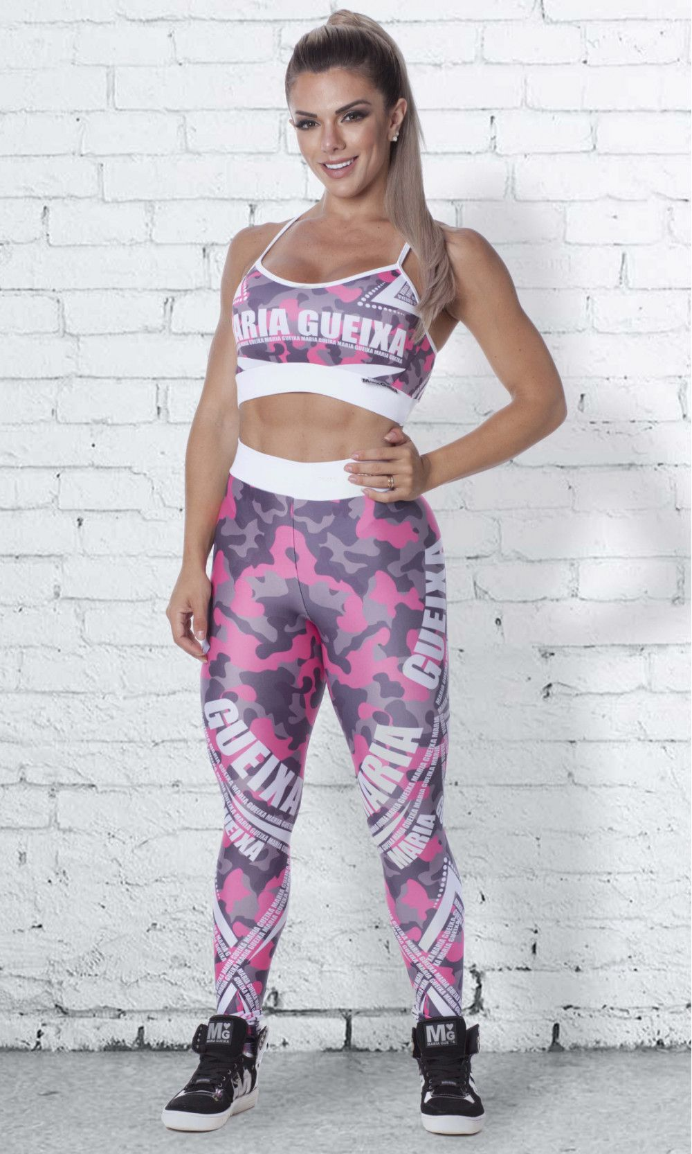 TOP FITNESS PRINTED WORK-OUT MARIA GUEIXA CAMU DELUXE