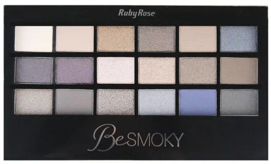 Ruby Rose Paleta de Sombras Be 18 Cores