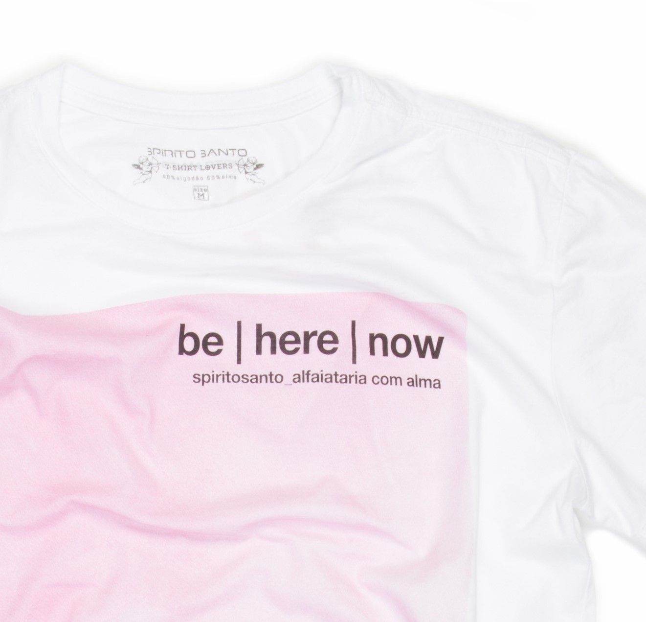 CAMISETA SPIRITO SANTO BE HERE NOW Branco