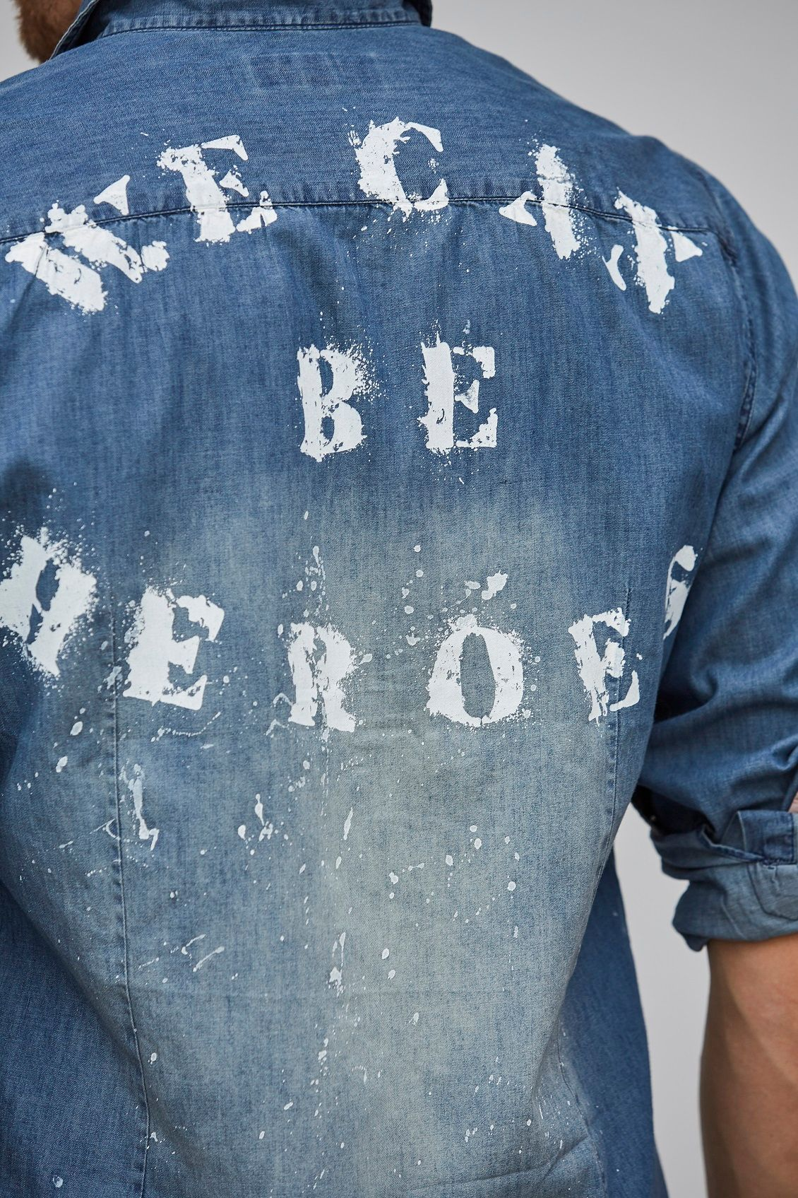 CAMISA FUN JEANS WE CAN BE HEROES Azul SPIRITO SANTO