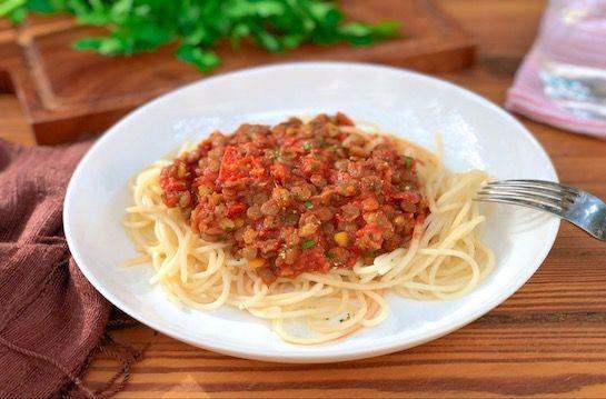 Espaguete de grão-de-bico