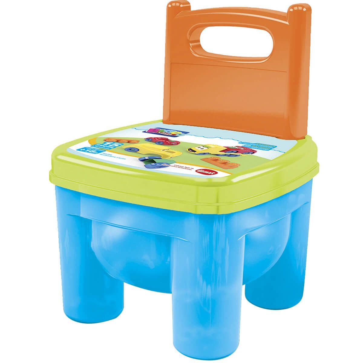 Cadeira Infantil Brinquedos Educativos Peças Montar Encaixe